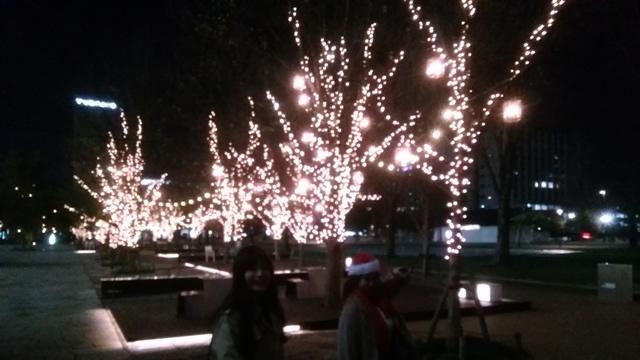 中野セントラルパークのクリスマスイルミネーション