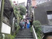 2013年4月台湾「九ふん」の坂の町並み