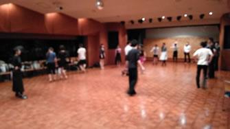 2015年4月若者社交ダンスサークルレッスン風景